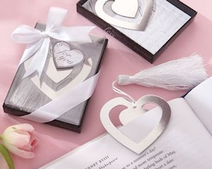 Silver Heart Bookmark with Silk Tassel image