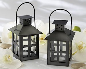 Luminous Black Mini-Lantern Tealight Holder image