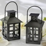 Luminous Black Mini-Lantern Tealight Holder