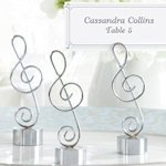 Silver Finish Musical Place Card Holders (Set of 4)