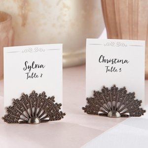 Antiqued Fan Place Card Holder (Set of 6) image