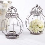 Vintage Bird Cage Lantern Table Centerpiece