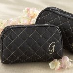 Monogrammed Quilted Cosmetic Bag