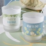 King of the Jungle Personalized Frosted Glass Votives