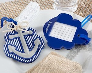 Anchors Away Luggage Tag Wedding Favors image