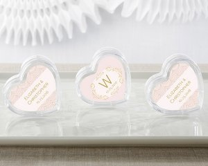 Modern Romance Heart Favor Container (Set of 12) image