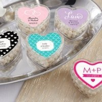 Personalized Clear Heart Shaped Favor Boxes (Set of 12)