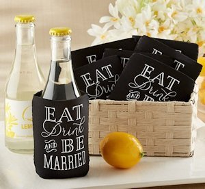 Eat Drink & Be Married Wedding Can Koozies (Set of 12) image