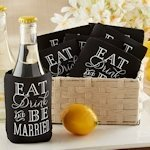 Eat Drink & Be Married Wedding Can Koozies (Set of 12)
