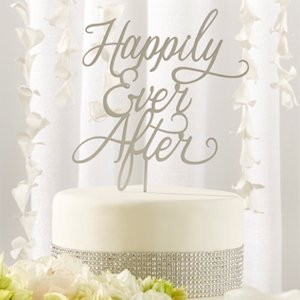 Happily Ever After Wedding Cake Topper image
