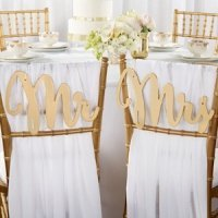 Gold Promises Classic Mr. and Mrs. Chair Backers
