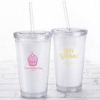 Personalized Birthday Printed Acrylic Tumblers