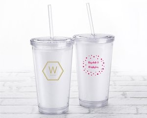 Personalized Modern Classic Printed Acrylic Tumbler image
