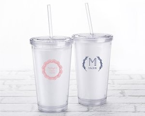 Personalized Rustic Charm Printed Acrylic Tumbler image