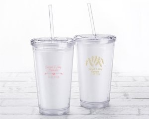 Personalized Winter Design Printed Acrylic Tumbler image
