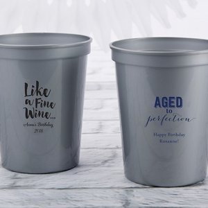 Personalized Adult Birthday Stadium Cup Favors image