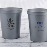 Personalized Adult Birthday Stadium Cup Favors