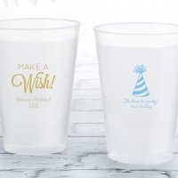 Personalized Birthday Frosted Flex Cup Favors
