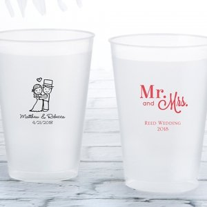 Personalized Wedding Frosted Flex Cup Favors image