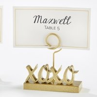 XOXO Gold Place Card Holders (Set of 6)