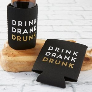 Drink Drank Drunk Insulated Drink Sleeve Set (Set of 4) image