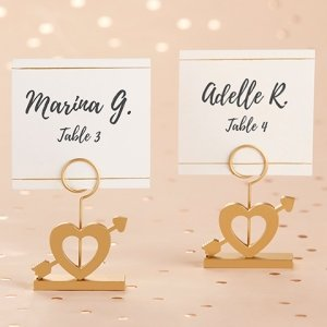 Cupid's Arrow Gold Place Card Holder (Set of 6) image