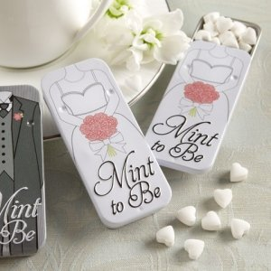 'Mint to Be' Bride and Groom Mint Tins Wedding Favors image