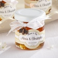 Personalized Meant to Bee Honey Wedding Favors (Set of 12)