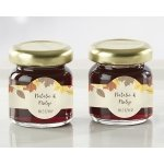 Personalized Fall Leaves Strawberry Jam Favors (Set of 12)