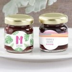 Personalized Pineapples & Palms Strawberry Jam (Set of 12)