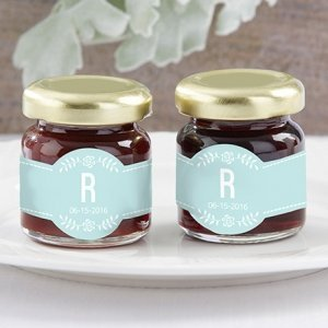 Personalized Rustic Wedding Strawberry Jam Favor (Set of 12) image