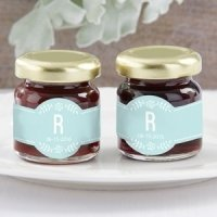 Personalized Rustic Wedding Strawberry Jam Favor (Set of 12)
