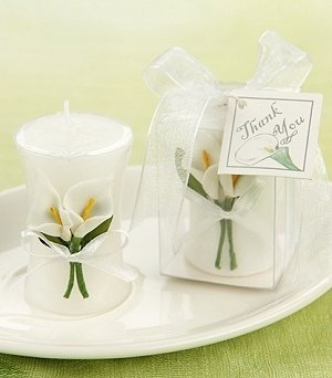 Calla Lily Candle Favor image