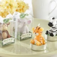 Born to be Wild Baby Animal Candle Favors (Set of 4)