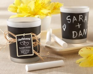 Chalkboard Frosted Glass Candles (Set of 4) image