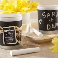 Chalkboard Frosted Glass Candles (Set of 4)