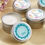 Personalized Boho Design Travel Candle Favors