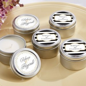 Personalized Classic Design Travel Candle Favors image