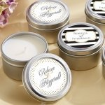 Personalized Classic Design Travel Candle Favors