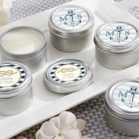 Nautical Themed Personalized Travel Candle