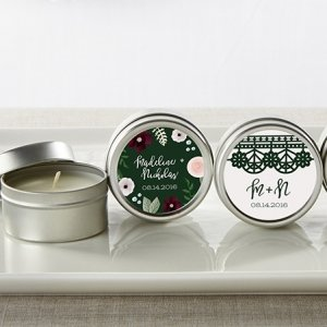 Personalized Romantic Garden Travel Candle Favors image