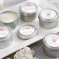 Personalized Rustic Candle Bridal Shower Favors