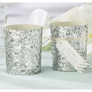 Sparkle and Shine Silver Glitter Votive (Set of 4) image