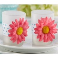 Daisy Delight Gerbera Daisy Tealight Holder (Set of 4)
