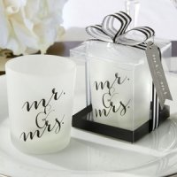 Classic Mr. and Mrs. Votive Candle Favor (Set of 4)