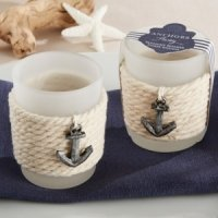 Anchors Away Rope Tealight Holder (Set of 4)