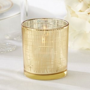 Classic Gold Stripe Tealight Holder (Set of 4) image