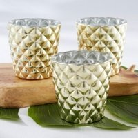 Textured Gold Votive Holder (Set of 4)