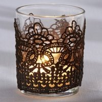 Black Lace Tealight Holder (Set of 4)