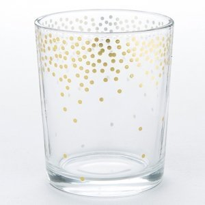 Gold Foil Dot Tea Light Holder Favors (Set of 4) image